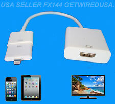 CONNECT YOUR iPAD 4 iPAD AIR iPAD MINI 1 MINI 2 TO A TV HDMI 8-PIN APPLE ADAPTER
