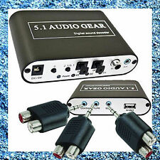 Digital Audio Decoder 5.1 AC3 DTS HD Audio Gear Sound Decoder Stereo Converter