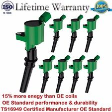 Pack of 8 NEW Ignition Coils for Ford Lincoln Mercury Heavy Duty 4.6L 5.4L DG508