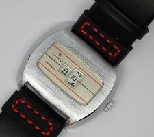 VINTAGE RETRO 70'S SWISS LANCO JUMP HOUR DIGITAL DIAL MENS MECHANICAL WATCH