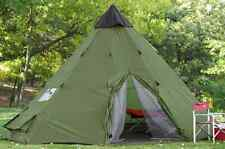 Huge 18' Teepee Large Waterproof Tent Campers Outdoor Survival Shelter Sleeps 12