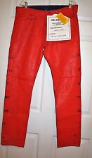 Maison Martin Margiela H&M Red Painted Jeans NEW 34