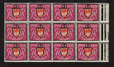 MONACO 1954 ARMS TYPE  MINT MNH 50c BLOCK 12 PRINCIPALITY FRANCAISE FRANCE
