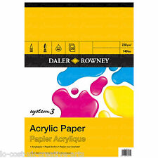 DALER ROWNEY A4 ARTIST SYSTEM 3 ACRYLIC PAINTING PAPER PAD 140 lb / 230 gsm