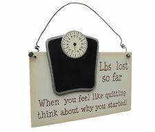 Weight Loss Plaque - Wooden Hanging Record Plaque - Fun - Quirky