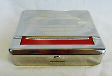 Silver Metal Automatic Cigarette Rolling Machine / Tobacco Tin - BNIB