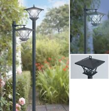 SOLAR GARDEN LIGHT POST LIGHTS (pair) 152cm