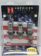 Hornady American Series Nitride 3-Die Set 9 mm Luger Model #  486515 Factory New
