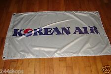 KOREAN AIR LINES 3' x 5' FLAG DOUBLE SIDED - NYLON - HEAVY DUTY - NEW