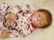 B108 Lovely Sleeping Reborn Baby Boy Doll Child Friendly H 20 inch