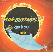 "IRON BUTTERFLY ‎– Get It Out / Free (1975 VINYL SINGLE 7"" PS ITALY)"