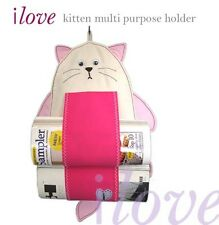 ilove magazine or toilet rolls hanging holder - kitten