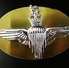 GENUINE  ISSUE BRITISH PARA REGIMENT ALL RANKS SILVER PLATED BERET BADGE