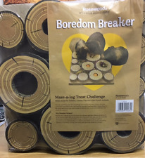BOREDOM BREAKER MAZE A LOG TREAT CHALLENGE TOY FOR RABBITS & GUINEA PIGS ETC..