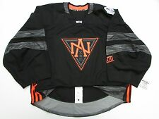 NORTH AMERICA BLACK WORLD CUP OF HOCKEY TEAM ISSUED ADIDAS JERSEY GOALIE CUT 58