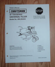 CRAFTSMAN 486.252444 TILLER OWNERS MANUAL WITH ILLUSTRATED PARTS LIST