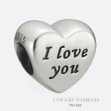 """Authentic Pandora Sterling Silver Words of Love """"I Love You"""" Bead 791422"""