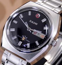VINTAGE RADO GOLDEN SABRE AUTOMATIC BLACK DIAL DAY&DATE DRESS MEN'S WATCH