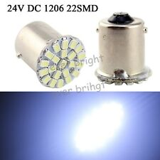 80X 24V DC 1156 BA15S 1206 22 LED Car Tail Brake Turn Signal Light Lamp Bulb