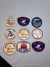 9 Bowling Patches, Vintage 1970's - 1980's Houston Texas B.P.A.