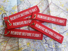 *** REMOVE BEFORE FLIGHT *** LLAVERO KEYCHAIN KEYRING KEY TAG - HIGH QUALITY!!!