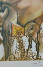 """SALVADOR DALI The Dalinean Horses """" Trojan Horse """" limited edition SIGNED"""