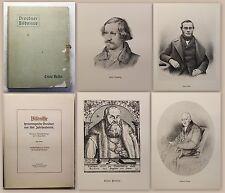 Beutel: Bildnisse hervorragender Dresdner aus fünf Jh. 1. Reihe 1908 Mappe - xz