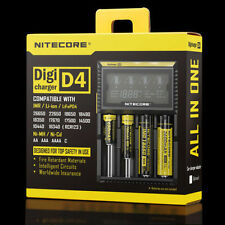 Nitecore D4 LCD Intelligent Circuitry Global Insurance 18650 Charger+Car Charge