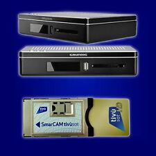 Tivu Sat TivuSat HD Modul Karte Grundig Receiver SET mit italienische Programm