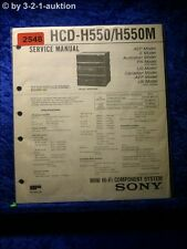 Sony Service Manual HCD H550 / H550M Component System (#2548)