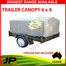1x TRAILER CANOPY CANVAS SUIT 6 X 4 TRAILER BLUE EASY FIT FRAME, DURABLE