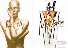 PUBLICITE  ADVERTISING   1998    MONTANA  nue, parfum JUST ME (2 pages)