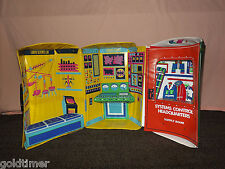 VINTAGE  RARE SPACE TOY 1960-70S SYSYEMS CONTROL HEADQUARTERS FOLD OUT CASE