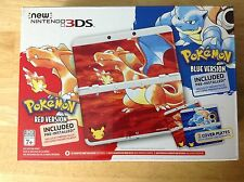 New Nintendo 3DS Pokemon 20th Anniversary Bundle w/ plain white cover plate
