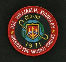 USS WILLIAM H. STANDLEY DLG-32 Destroyer Ship Military Patch AROUND THE WORLD