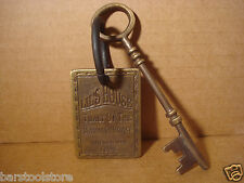 LIL'S HOUSE SOLID BRASS BROTHEL ROOM KEY WITH TAG Whiskey Girls Western