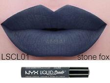 NYX Liquid Suede Cream Lipstick STONE FOX LSCL01 Gray Blue New Sealed Authentic