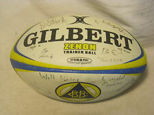 GILBERT ZENON Trainer Ball autographed Rugby blue yellow Lawless Frenchie Glick