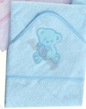 Beautiful Soft Teddy Bear  Design Infant / Baby Hooded Towel - Bath Robe (Blue)