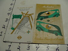 Vintage Travel Paper: SEE LONDON BY London Transport Coach, 10pgs, A GAMES COVER