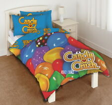 Candy Crush Single Panel Duvet Cover Bed Set New Gift Saga Sweets Rainbow