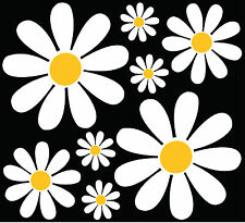 Daisy Flower Set - car sticker decal graphic camper retro art VW easy apply diy