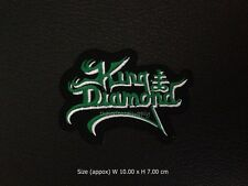 King Diamond Embroidered Patch Iron On Applique Rock Band Heavy Metal Music Logo