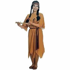 Red Indian Pocahontas Princess Halloween Party Womens Ladies Fancy Dress Costume