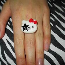 SUPER CUTE KITSCH KAWAII HARAJUKU HELLO KITTY KISS GENE SIMMONS RING
