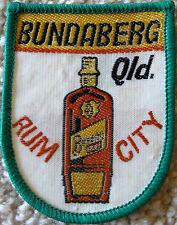 BUNDABERG QLD RUM CITY VINTAGE COLLECTOR SOUVENIR CLOTH PATCH BADGE