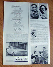 1961 Ford Falcon Ad Peanuts Charlie Brown