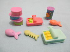 Littlest Pet Shop Lot to Grocery Fish cans cat food Accessory D2