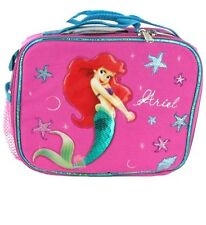 Disney Little Mermaid Ariel Lunch Bag Insulated Lunchbox Pink with Bottle, New