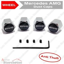 Mercedes AMG Anti Theft Tyre Valve Dust Caps